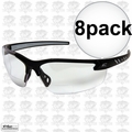 Edge Eyewear DZ111-G2 8pk Black Frame - Clear Lens Zorge G2 Safety Glasses