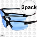 Edge Eyewear DZ113G2 2pk Zorge Safety Glasses - Black with Light Blue Lens