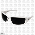 Edge Eyewear TXB246 Brazeau Safety Glasses, White w/ Smoke Lens