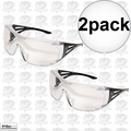 Edge Eyewear XF111-L 2pk OSSA Fit-Over Safety Glasses with Large Clear Lens