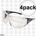 Edge Eyewear XF111-L 4pk OSSA Fit-Over Safety Glasses with Large Clear Lens
