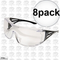 Edge Eyewear XF111-L 8pk OSSA Fit-Over Safety Glasses with Large Clear Lens