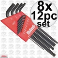 Eklind 13212 8x 12pc Long Arm Ball End L-Hex Key Set