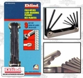 "Eklind 20912 9 pc .050"" - 3/16"" Folding Hex Key Set"