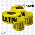 Empire 71-1001 2pk 1000' Roll Yellow Caution Barricade Tape