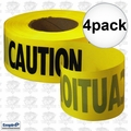 Empire 71-1001 4pk 1000' Roll Yellow Caution Barricade Tape