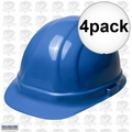 ERB 19956 4pk Blue Ratcheting Omega II Hard Hat