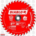 "Freud D0436X 4-3/8"" x 36 Tooth Diablo Cordless Trim Saw Blade"