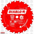 "Freud D0620X 6"" x 20 Tooth Diablo Boss Trim Saw Blade"