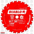 "Freud D0624X 6-1/2"" x 24 Tooth Diablo ATB Framing Saw Blade (Bulk)"