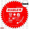 "Freud D0640X 2pk 6"" x 40 Tooth Diablo Boss Trim Saw Blade"