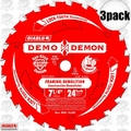 "Freud D0724DA 3pk 7-1/4"" x 24T Diablo Demo Demon Circular Saw Blade"