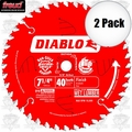 "Freud D0740A 2pk 7-1/4"" x 40 Tooth Diablo Carbide Circular Saw Blade"