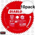 "Freud D0760A 10pk 7-1/4"" x 60T Ultra Fine Finishing Circ Saw Blade"