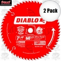 "Freud D0760A 2pk 7-1/4""x60T Diablo Ultra Fine Finishing Saw Blade"
