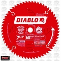 "Freud D0760X 7-1/4"" x 60T Diablo Ultra Fine Finishing Circ Saw Blade"