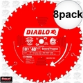 "Freud D1040W 8pk 10-1/4"" x 40T Diablo ATB General Purpose Saw Blade"