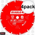 "Freud D1260X 4pk 12"" x 60 Tooth Diablo Combination Blade"