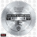 "Freud LU91M012 12"" x 72T ATB Carbide Sliding Miter Circular Saw Blade"