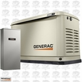 Generac 7030 9/8KW Guardian Standby Generator w/ Automatic Transfer Switch