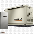 Generac 7033 11/10KW Guardian Standby Generator w/Automatic Transfer Switch