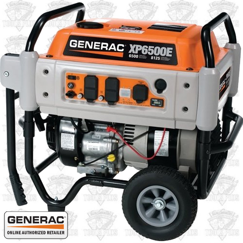 Generac XP6500E 6500 Watt Electric Start Portable Generator CARB