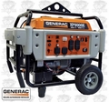 Generac 5935 8,000 Watt Electric Start Portable Generator CARB Certified