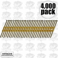 "Hitachi 10163 4,000pk 3-1/4"" 12D Smooth Galvanized Framing Nails"