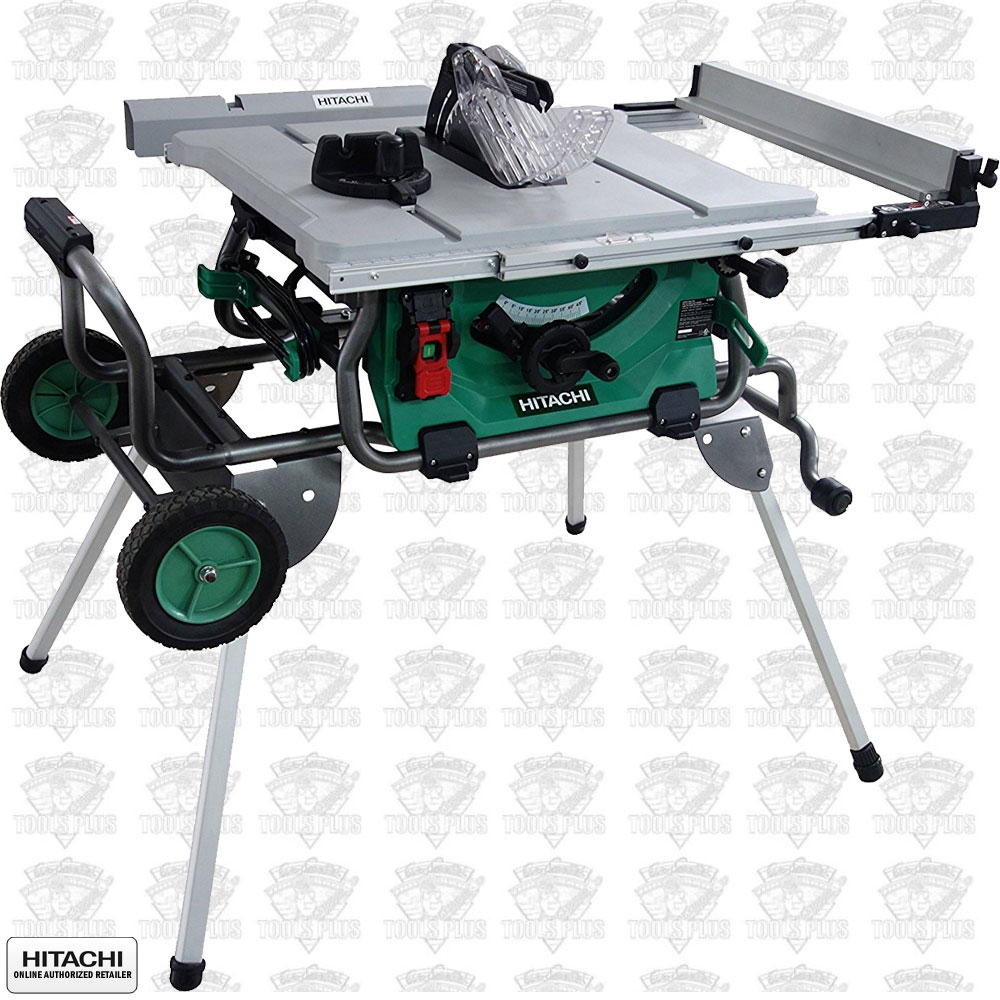 Hitachi c10rj 10 jobsite table saw wfold and roll stand greentooth Image collections