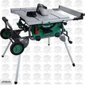 Hitachi C10RJ 10'' Jobsite table Saw w/Fold and Roll Stand
