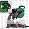 "Hitachi C12RSH2 15A 12"" Dual Bevel Compound Miter Saw w/Laser + Finish Blade"