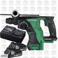Hitachi DH18DBLP4 18V Brushless SDS+ Rotary Hammer w/2 3.0ah Battery+Charger