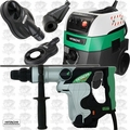 "Hitachi DH40MR 1-9/16"" SDS-Max Rotary Hammer w/HEPA Vac+Dust Collection"
