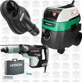 "Hitachi DH52ME 2-1/16"" SDS Max Rotary Hammer w/HEPA Vac+Dust Collection"