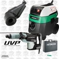 "Hitachi DH52MEY 2-1/16"" SDS Max Rotary Hammer w/HEPA Vac+Dust Collection"