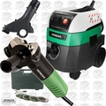 "Hitachi G12SR4 6.2 Amp 4-1/2"" Angle Grinder w/HEPA Vac+Dust Collection"