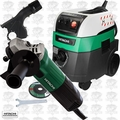 "Hitachi G12SS2 5.1-Amp 4-1/2"" Angle Grinder w/HEPA Vac+Dust Collection"