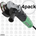 "Hitachi G12VA 4pk 4-1/2"" 13-Amp Variable Speed Angle Grinder"