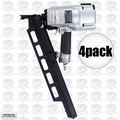 "Hitachi NR83A3 4pk 3-1/4"" Plastic Collated Framing Nailer w DEPTH ADJUSTMENT"