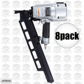 "Hitachi NR83A3 8pk 3-1/4"" Plastic Collated Framing Nailer w DEPTH ADJUSTMENT"