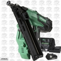 "Hitachi NT1865DMA 2-1/2"" 18V Brushless Lithium Ion 15Ga Angled Finish Nailer"
