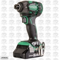 "Hitachi WH18DBDL2 18V 1/4"" Li-Ion Brushless Triple Hammer Impact Driver Kit"