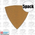 Imperial Blades 5STPH80 5pk 80 Grit Oscillating Triangle Sandpaper