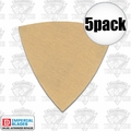 Imperial Blades 5TSP220 5pk 220 Grit Oscillating Triangle Sandpaper