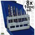 Irwin 11119 8x 10pc Screw Extractor And Left-Hand Cobalt Drill Bit Set