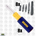 Irwin 2051100 8pk 9 i n 1 Screwdriver Multi Tool