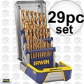 Irwin 3018003 29 piece Titanium Metal Drill Bit Set