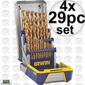 Irwin 3018003 4x 29pc Titanium Metal Drill Bit Set
