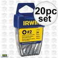 Irwin 357120 20 pc #2 Phillips Drywall Bits