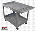 "JET 140019 37-3/8"" x 25-5/8"" Series Heavy-Duty Resin Utility Cart"